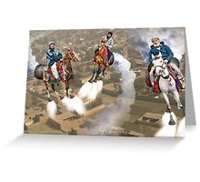 Peshawar پشاور Cronosphere Rocket Horse Racers Greeting Card