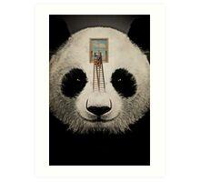 Panda window cleaner 03 Art Print