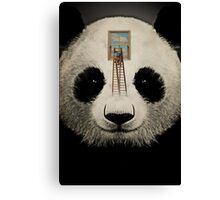 Panda window cleaner 03 Canvas Print