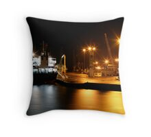 Night Shipping Throw Pillow