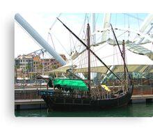 Tourist boat Canvas Print