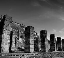 Columns at Chichen Itza by Ian Andrew