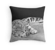 Daydreamer - Snow Leopard Throw Pillow