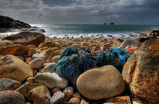Dinosaur Egg Valley (Porth Nanven, Cornwall) by Caroline Bland