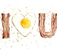 Bacon and Egg I Heart You by OlechkaDesign