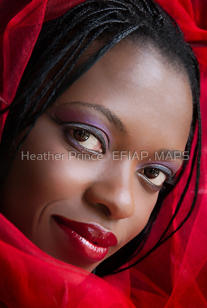 Girl in a Red Scarf by Heather Prince
