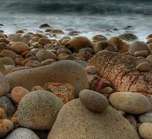 Dinosaur Egg Beach (Porth Nanven, Cornwall) by Caroline Bland