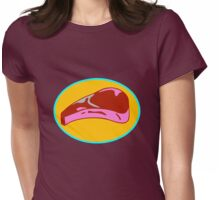 STEAK  Womens Fitted T-Shirt