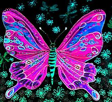 fairy butterfly (pink) by michele charvetto
