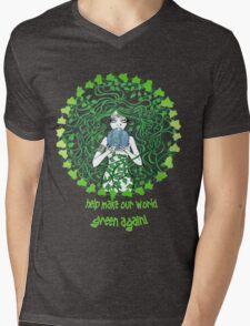 Help make our world green again Mens V-Neck T-Shirt