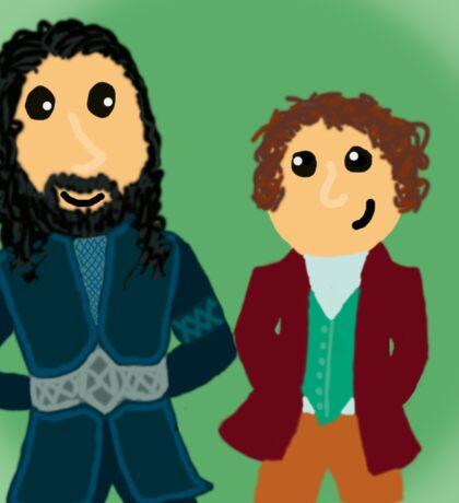 Bilbo & Thorin Sticker