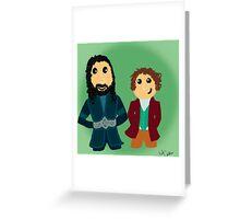 Bilbo & Thorin Greeting Card