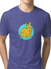 BUNNY AND MOON  Tri-blend T-Shirt