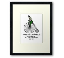 Climate change commuter Framed Print