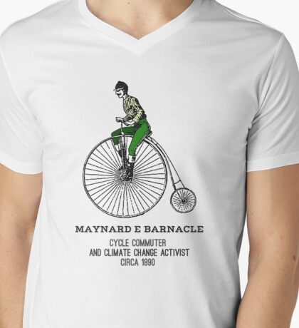 Climate change commuter Mens V-Neck T-Shirt