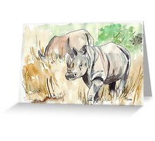Rhinos close-by Greeting Card