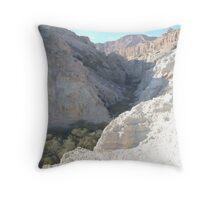 Green Valley, Brown Mountain Throw Pillow