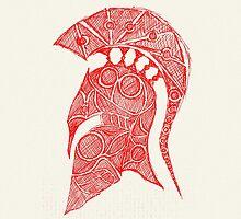 spartan helmet sketch by Hinterlund