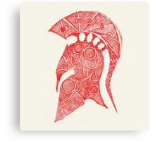 spartan helmet sketch Canvas Print