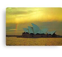 big house little rainbow.....  for Paul Keating esq..... Canvas Print