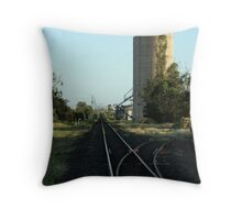 Rail Silo Throw Pillow