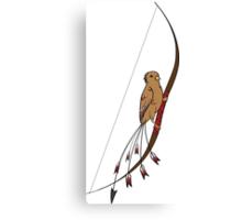 Archery Bird Canvas Print
