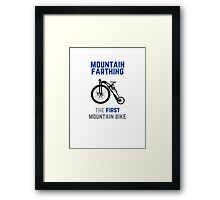 The First Mountain Bike: the mountain farthing Framed Print