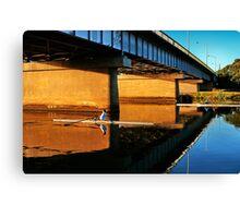"""Moorabool Street Bridge"" Canvas Print"