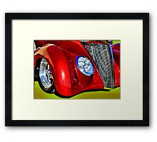 Red Hot And Silver Framed Print