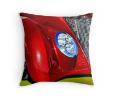 Red Hot And Silver Throw Pillow