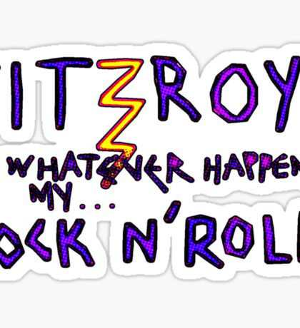 'Fitzroy Mock n' Roll' Sticker