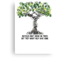 Bike Tree Canvas Print