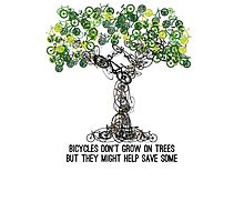 Bike Tree Photographic Print