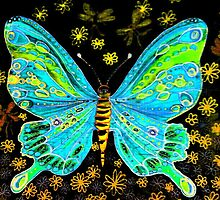 fairy butterfly (green) by michele charvetto