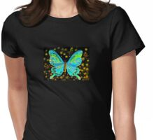 fairy butterfly (green) Womens Fitted T-Shirt
