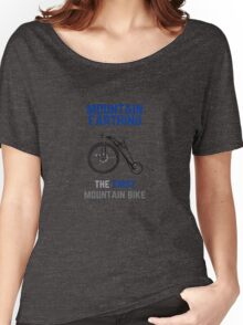 The First Mountain Bike: the mountain farthing Women's Relaxed Fit T-Shirt