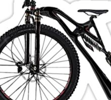 The First Mountain Bike: the mountain farthing Sticker