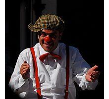 The Sculptor Clown street performer Photographic Print
