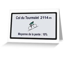 Col du Tourmalet Road Sign Cycling Tour de France Greeting Card