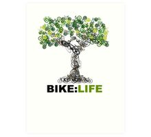BIKE:LIFE tree Art Print