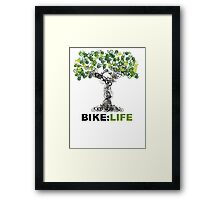 BIKE:LIFE tree Framed Print