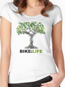BIKE:LIFE tree Women's Fitted Scoop T-Shirt