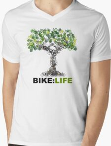 BIKE:LIFE tree Mens V-Neck T-Shirt