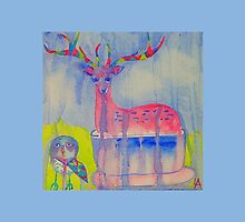 Deer in a tea cup by lisaaddinsall