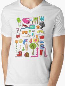 busy Mens V-Neck T-Shirt