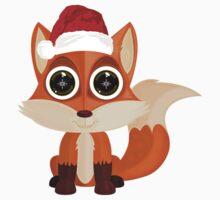Christmas Fox Baby Tee