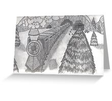 TRAIN IN THE SNOW Greeting Card