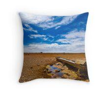 Dry Earth Farming Throw Pillow