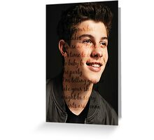 Shawn Mendes life of the party Greeting Card