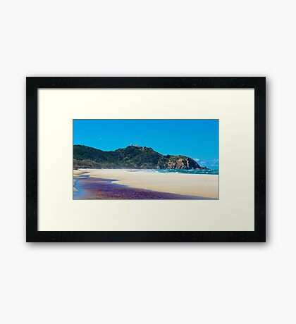 Hang Gliders Over Cape Byron Framed Print